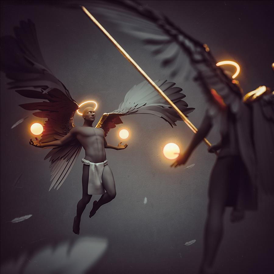 dark angel Sci Fi Ps25Under25 3D adobe photomanipulation cc2017 photoshop amr elshamy