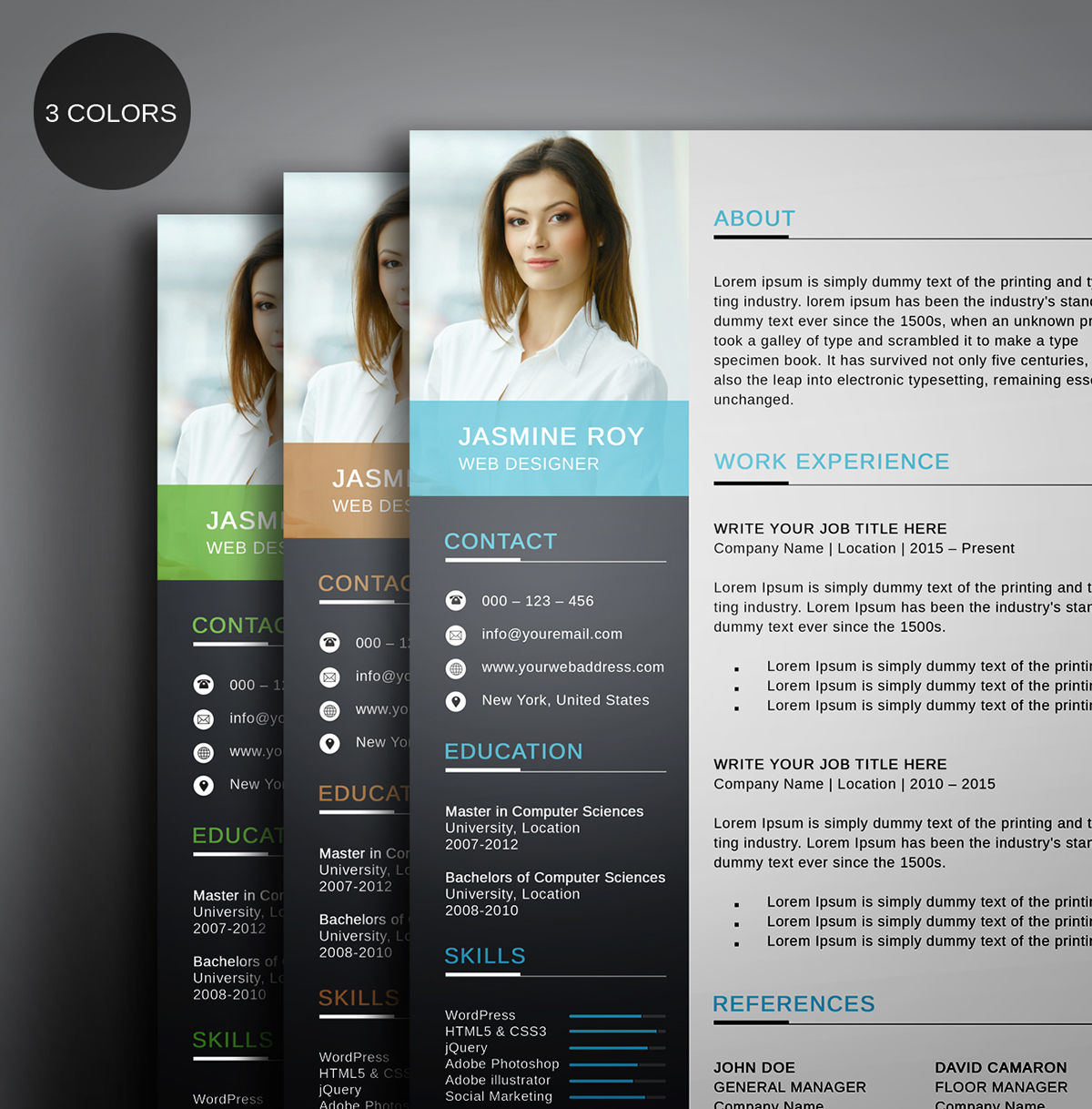 free clean cv  resume template on behance