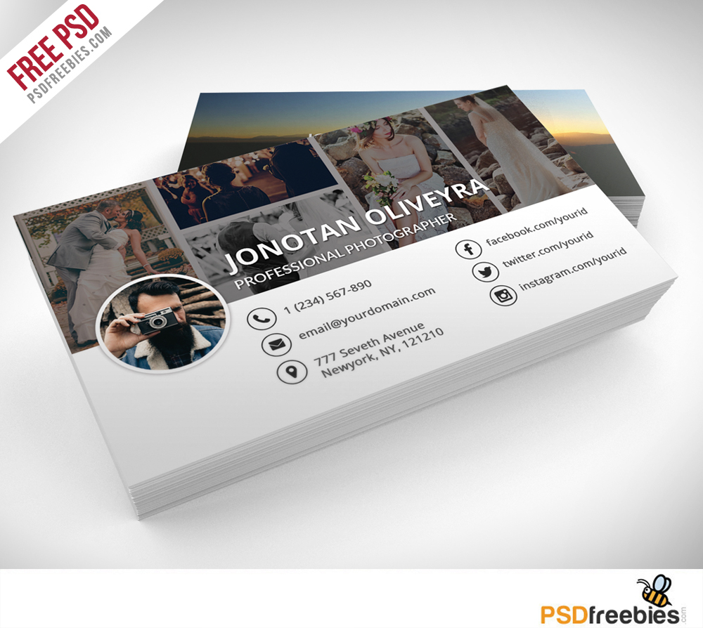 Freebie professional photographer business card psd on behance download professional photographer business card psd template freebie fbccfo Images