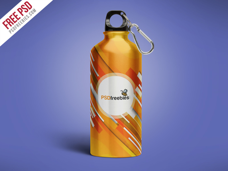 free psd psd freebie Mockup free mockup  bottle mockup mock up Aluminum Water Bottle branding  bottle design