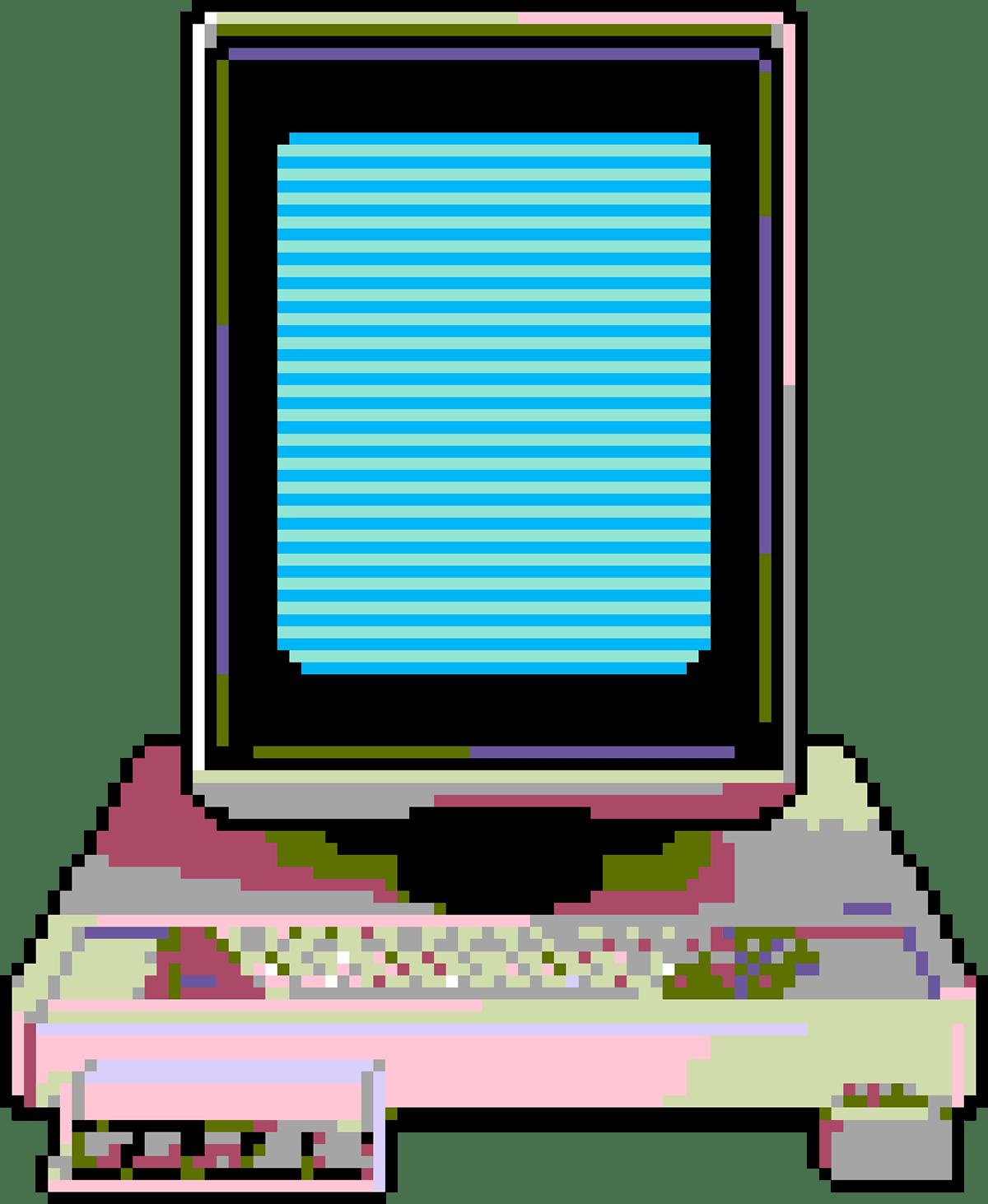 Pixel art 8bit apple