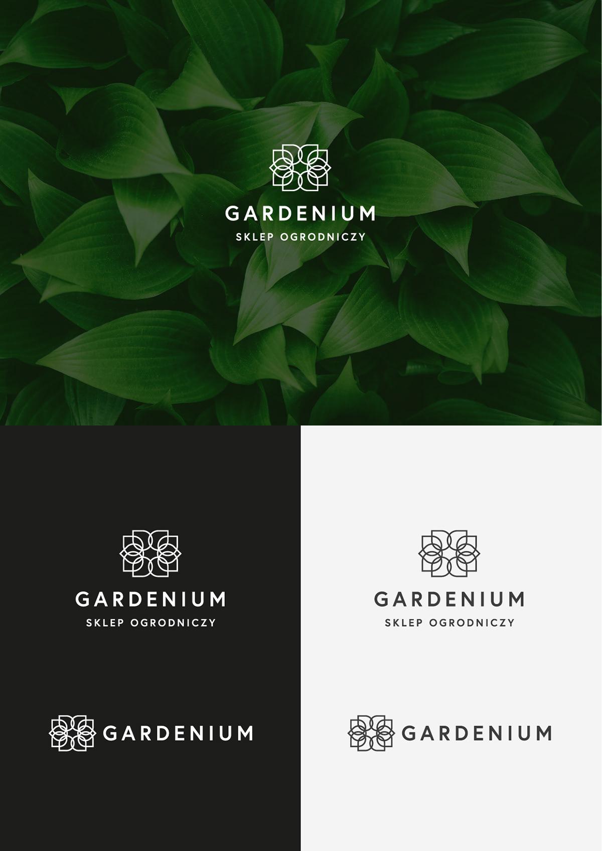 branding  eco flower garden linear logo minimal shop simple warszawa