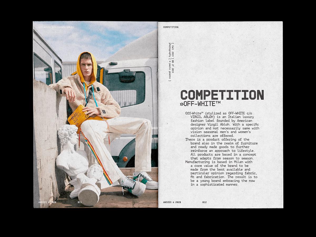 hype Layout magazine minimal skate streetwear type typography   Zine  editorial
