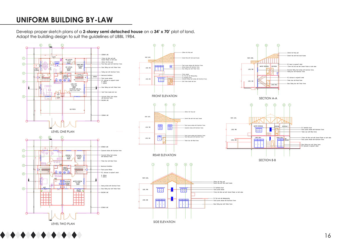 Portfolio On Behance 2 Storey Residential Electrical Plan Save To Collection