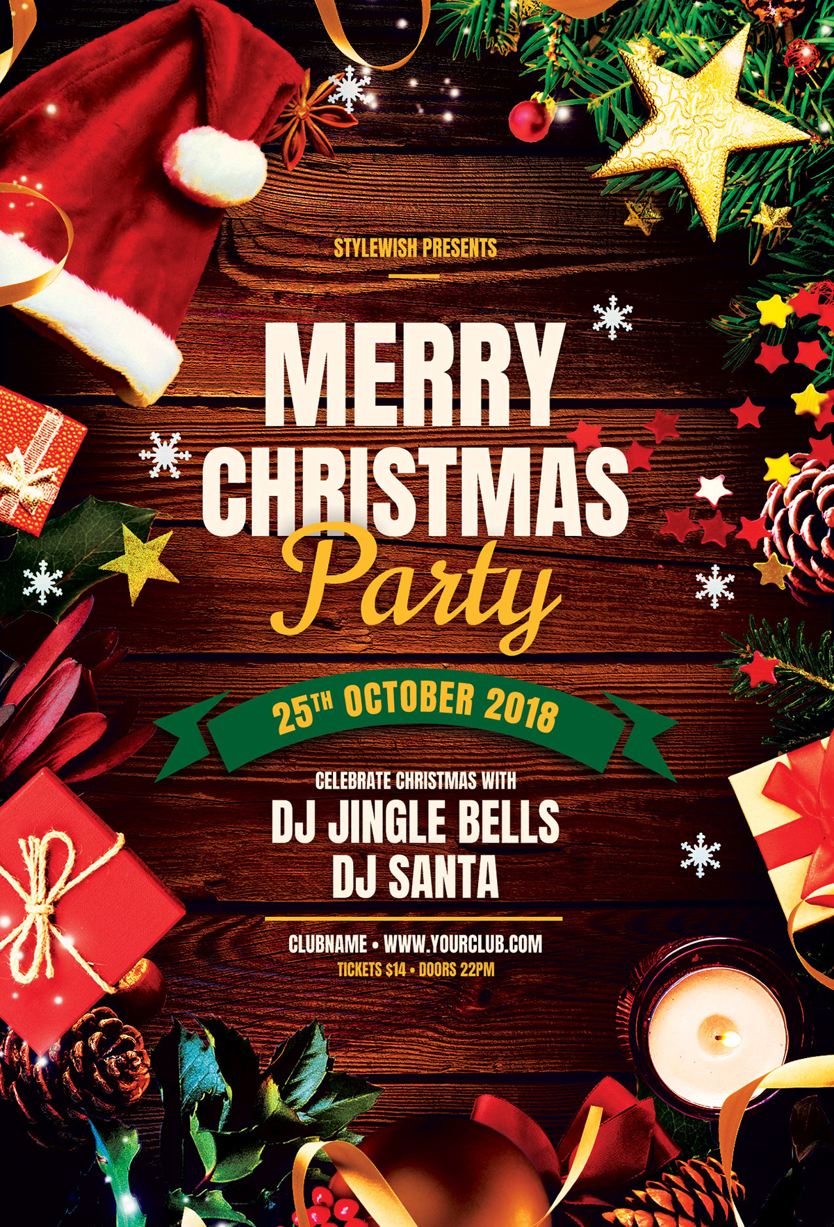Merry Christmas Party Flyer On Behance
