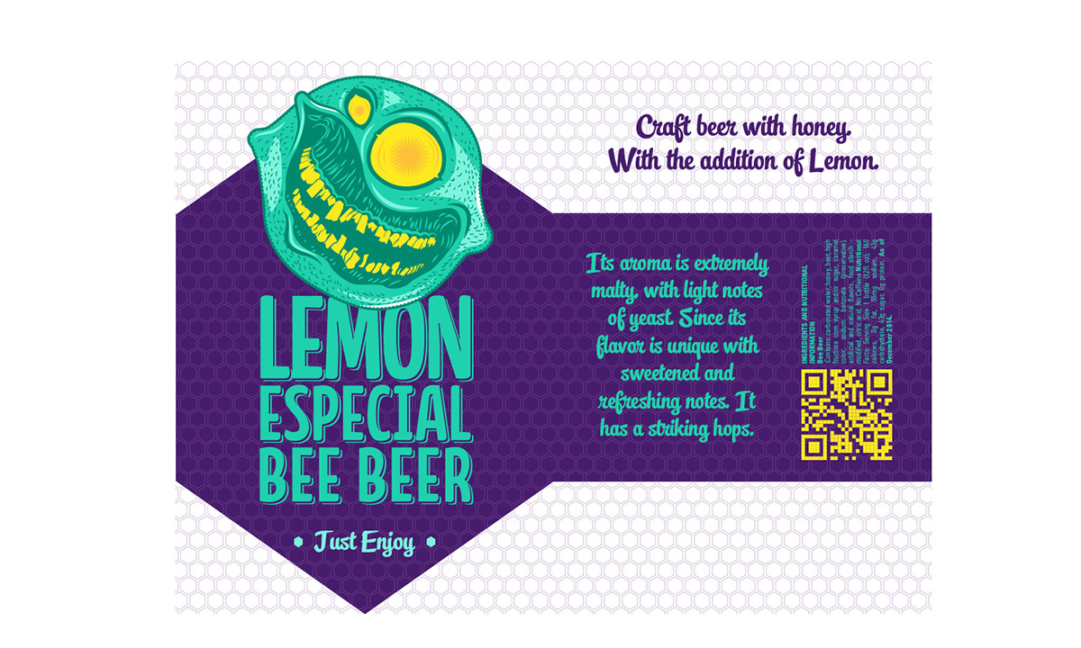 Bee beer illustration and packaging on behance for Craft beer capital of the world