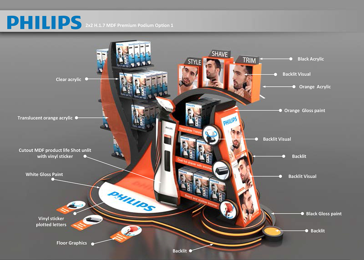 Philips Podium for UAE supper stores on Behance
