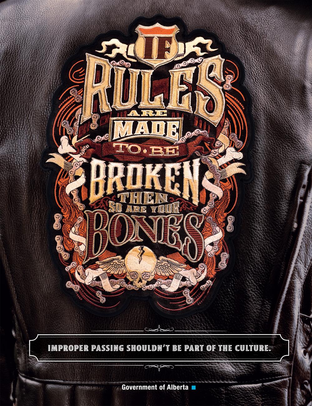 motorcycle safety alberta calder bateman nicola pringle LUCA IONESCU logo lettering Canada safety motorcycle campaign like minded studio