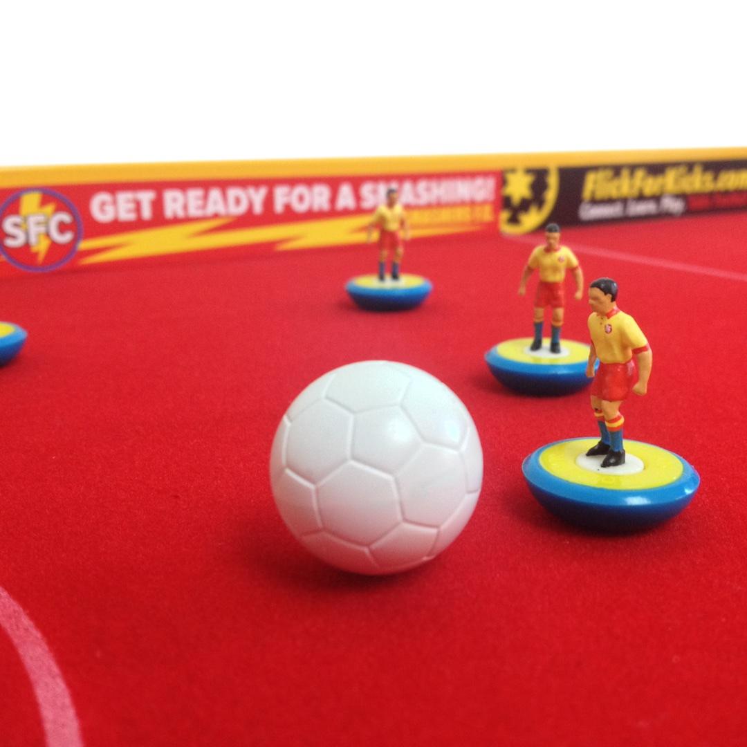 FlickForKicks table soccer Table Football football soccer gaming table gaming arena Subbuteo personalised gift