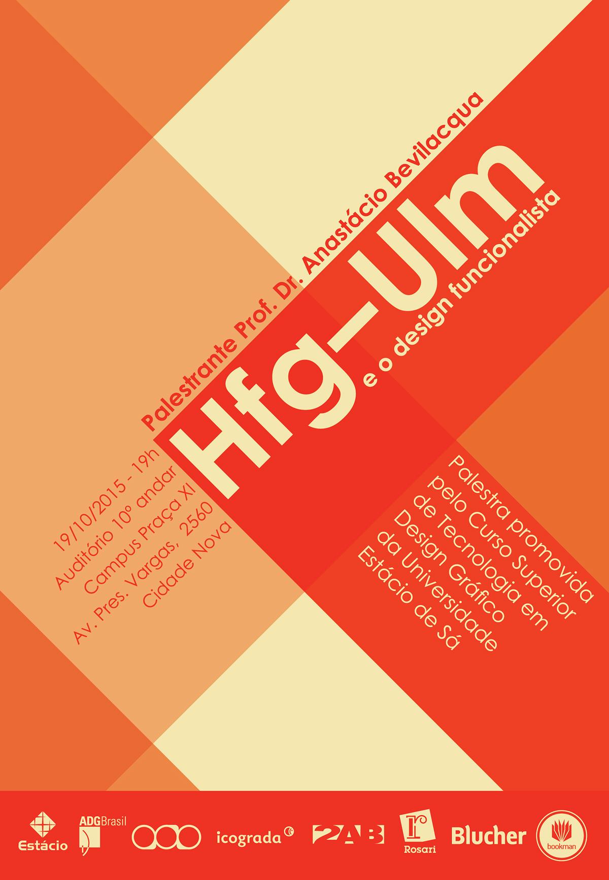 Cartaz hfg ulm on behance for Hfg ulm design