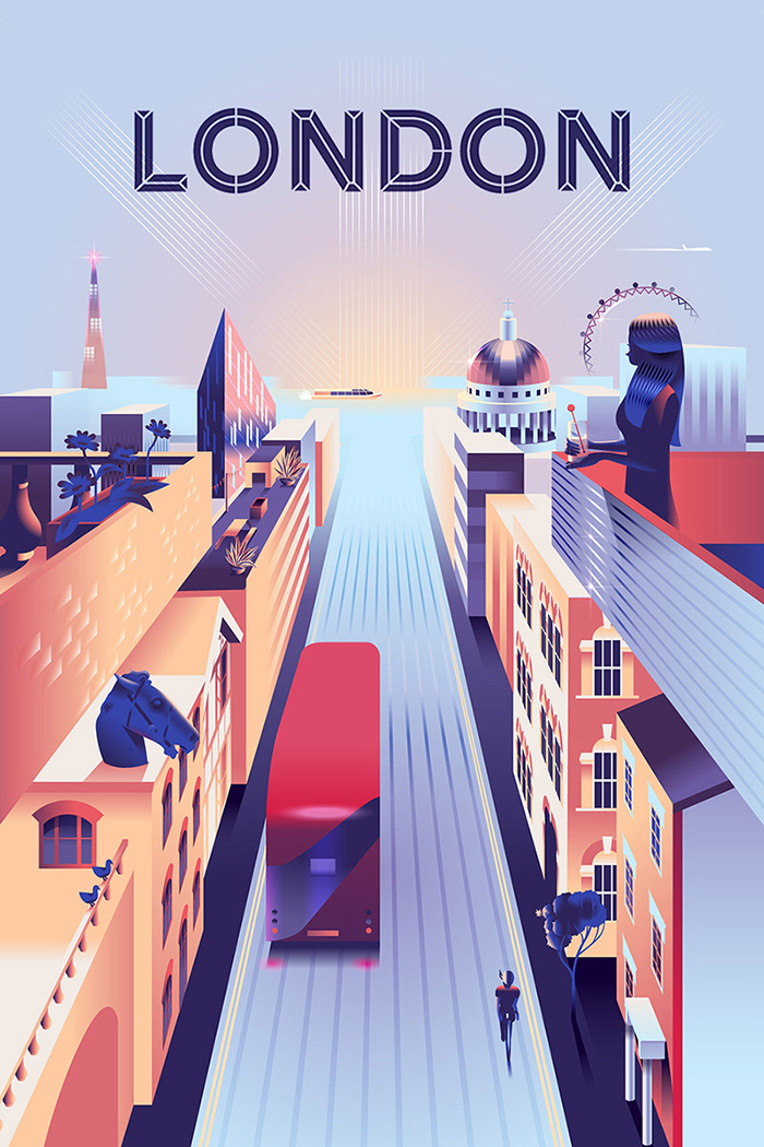 Airbnb trips – London poster on Behance