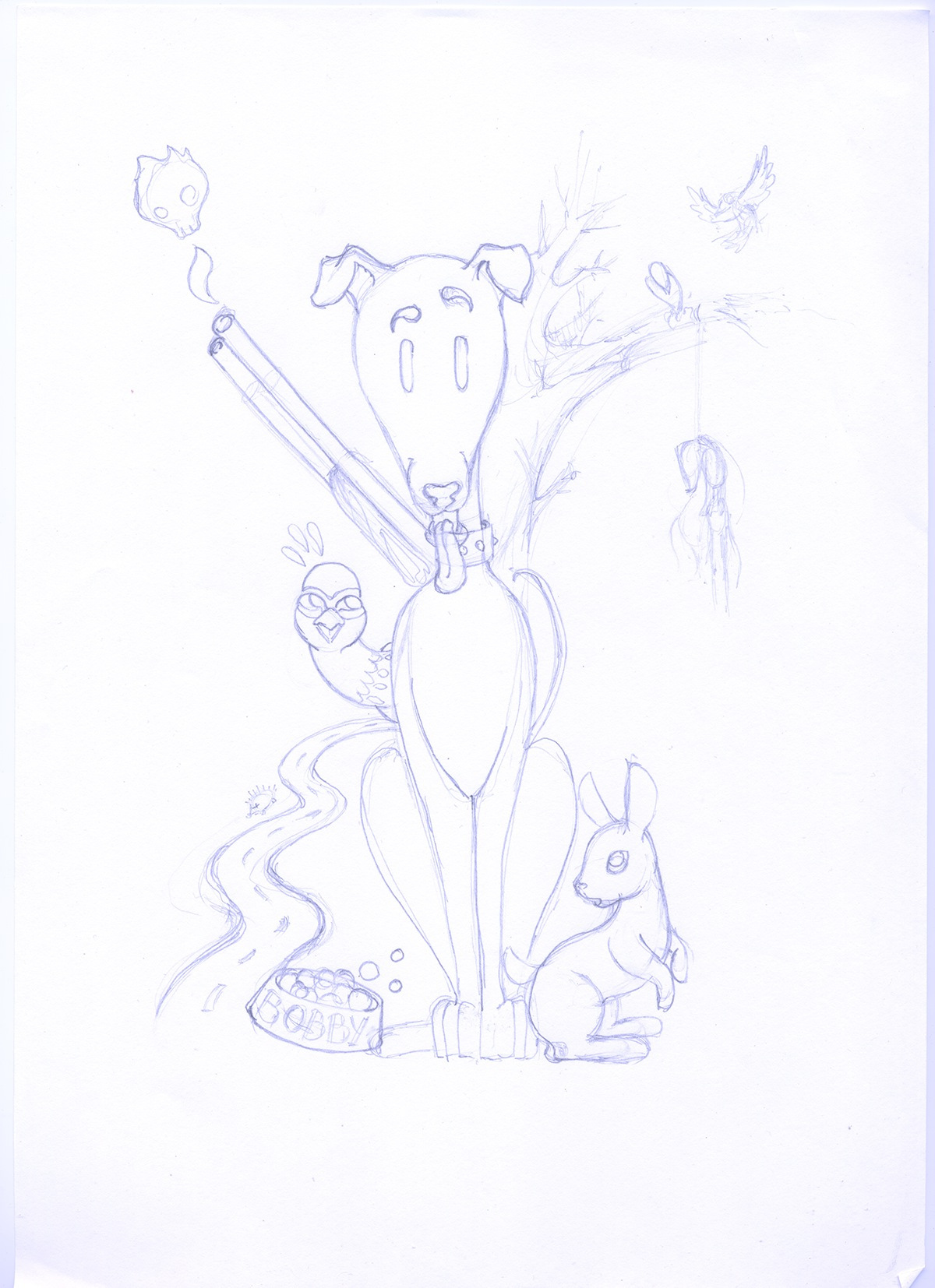 ilustracion dibujo boceto scketch photoshop Illustrator