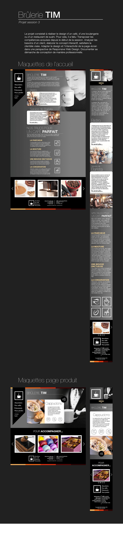 Brulerie cafe Web design Interface reponsive TIM
