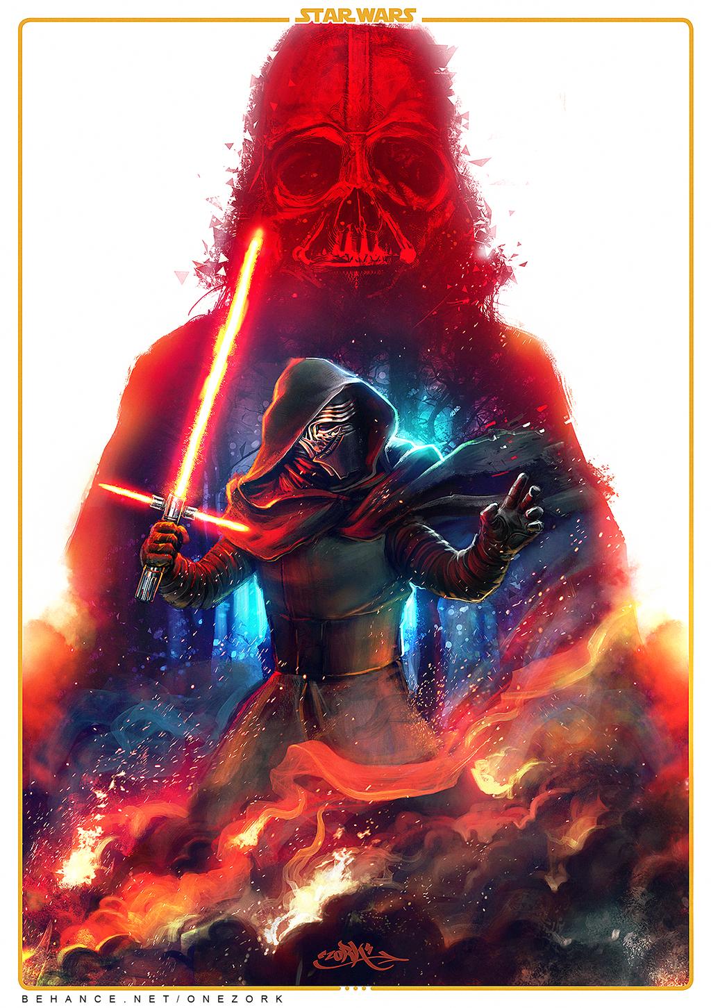 star wars star wars the force awakens kylo ren darth vader