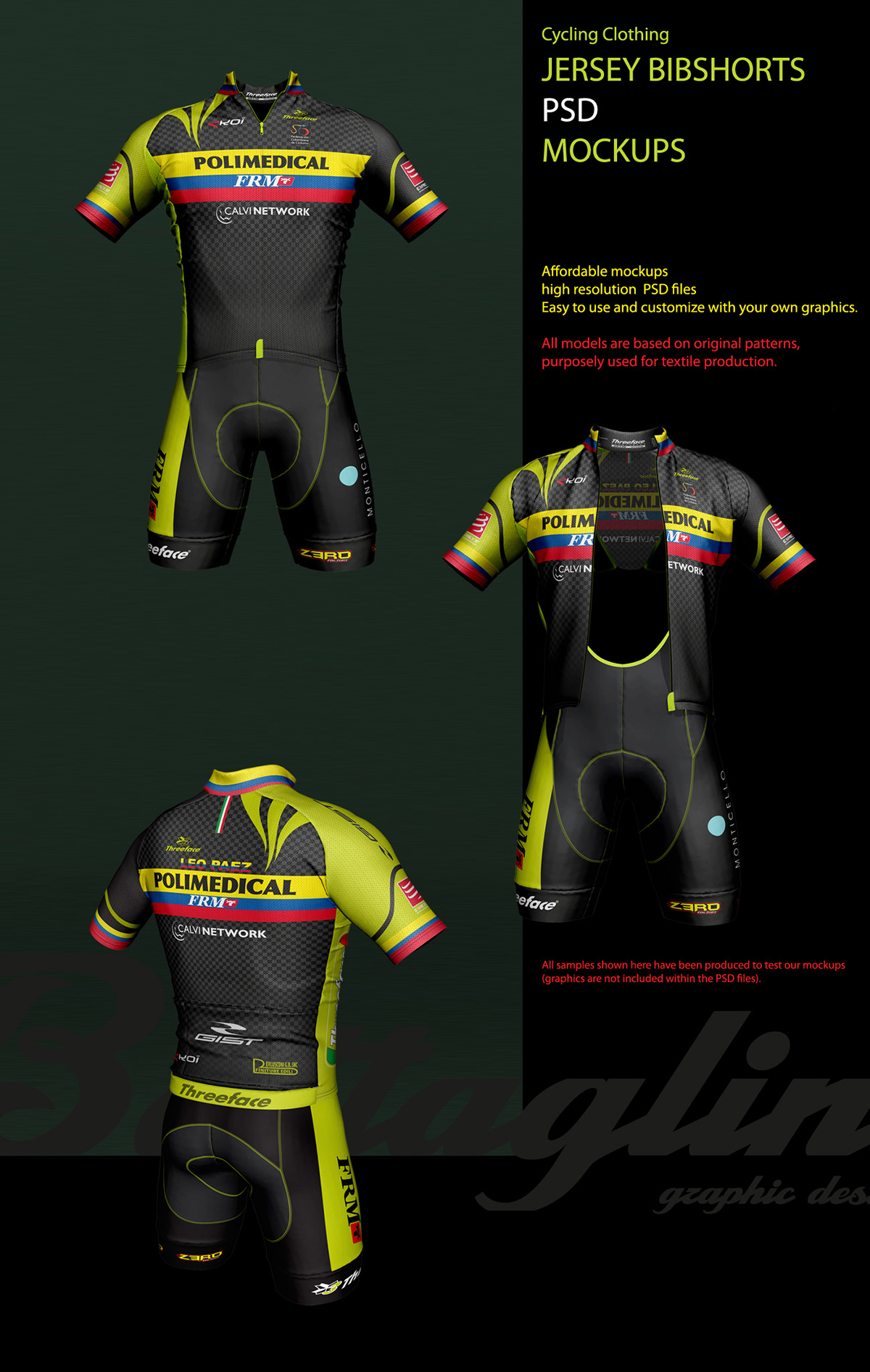 Jersey Bib Shorts Mockups on Behance