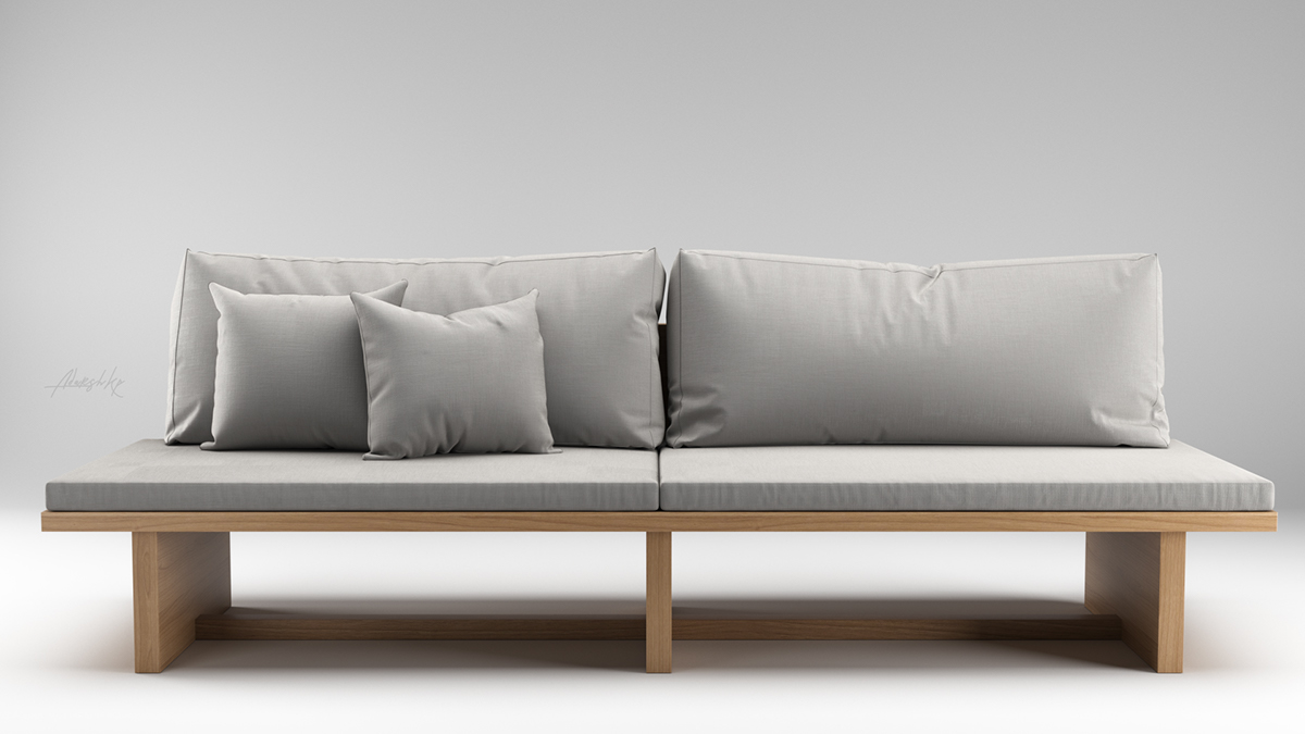 Admirable Modern Sofa 3D Model On Student Show Machost Co Dining Chair Design Ideas Machostcouk