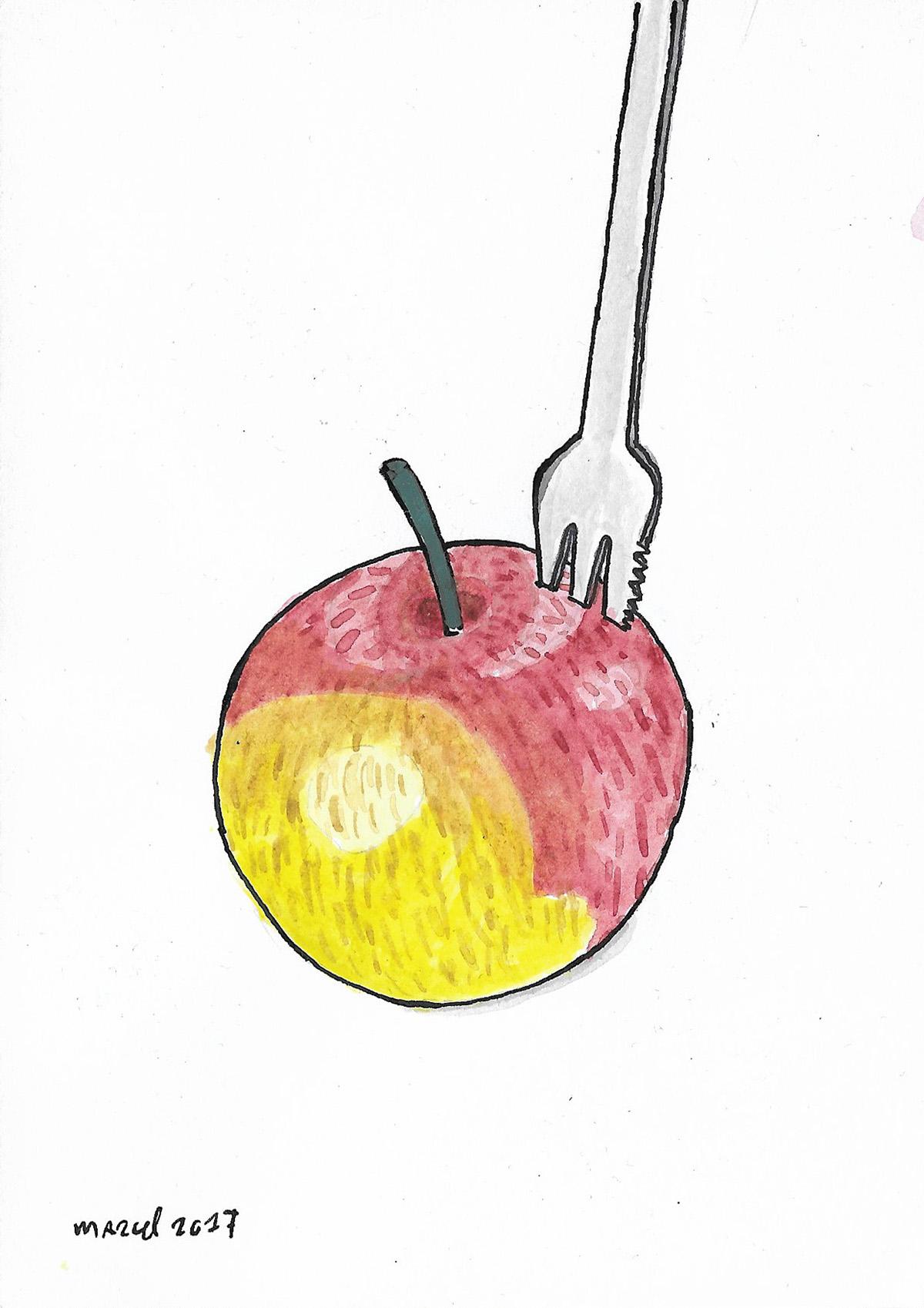 pen ink inkt watercolor joostmarcellis marcelvandeberg
