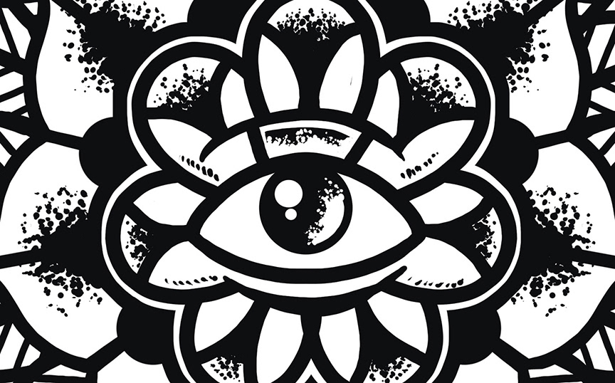 zoah pop punk easycore Hardcore +music+ tee t-shirt design dagger world Axes eye flower traditional