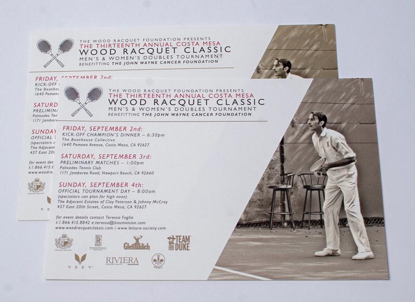 graphic design  print design  tennis charity non-profit Layout Design vintage modern
