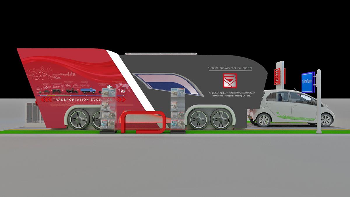 Exhibition Stand Transport : Bakhashab exhibition stand design concept on behance