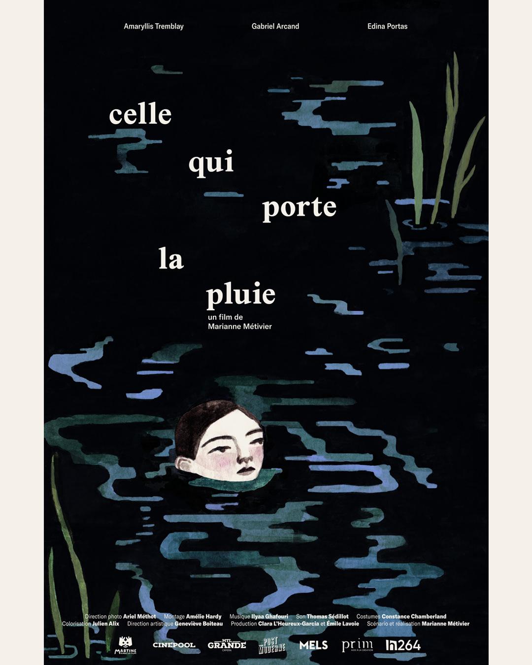 Cinema Film   ILLUSTRATION  movie Pluie poster rain short water affiche