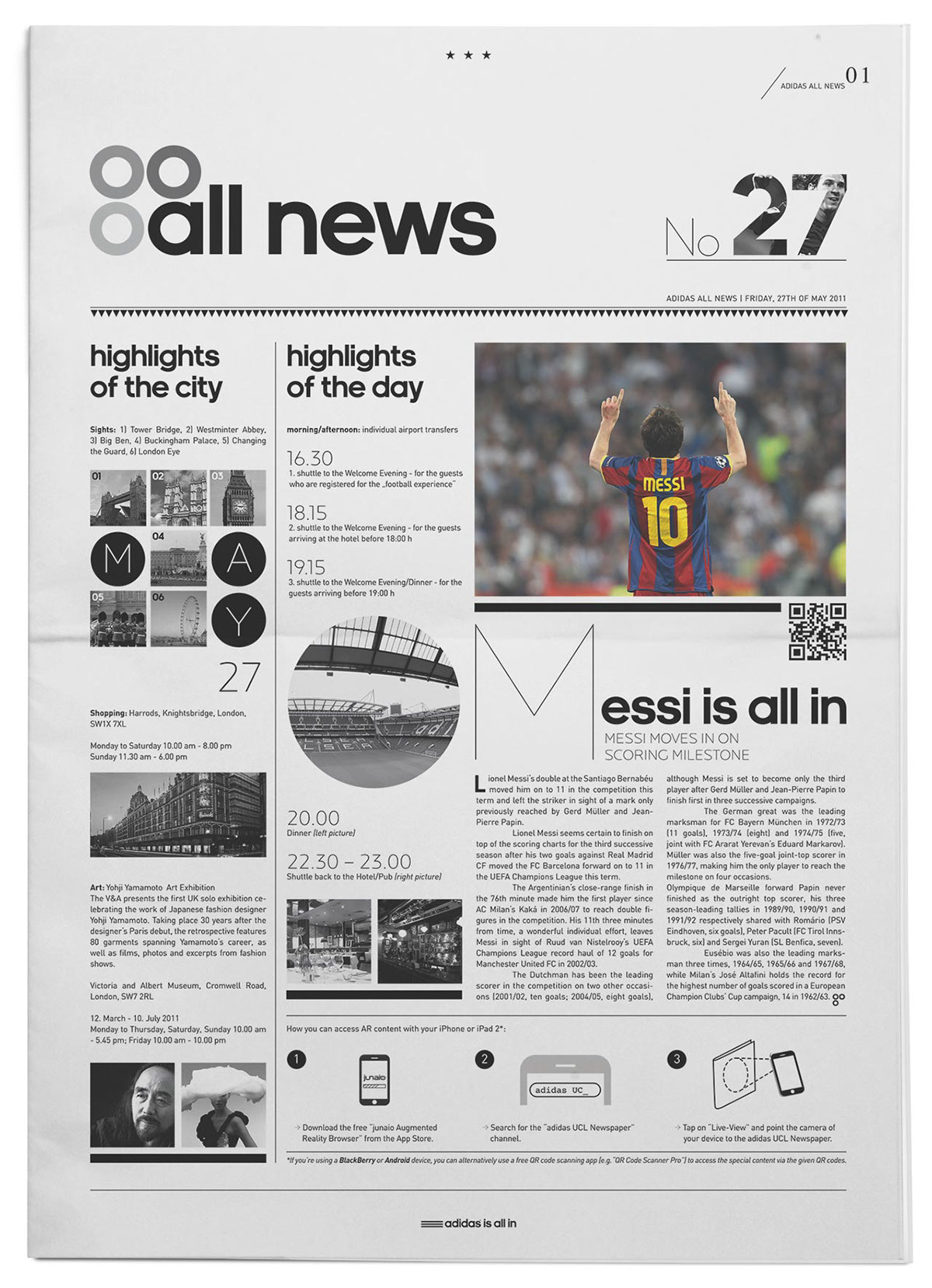 Editorial Design - Adidas All News on Behance