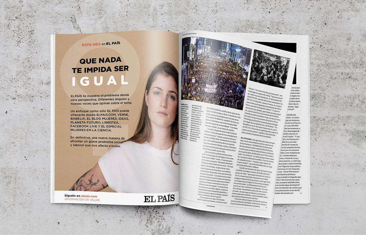 el pais womens day magazine design editorial feminism eco newspaper