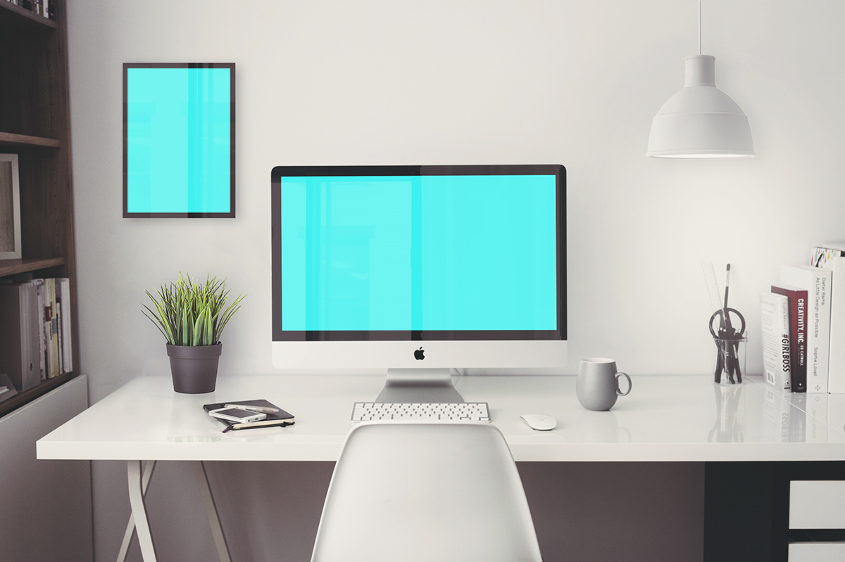 free imac 5k retina 27 office psd mockup on behance