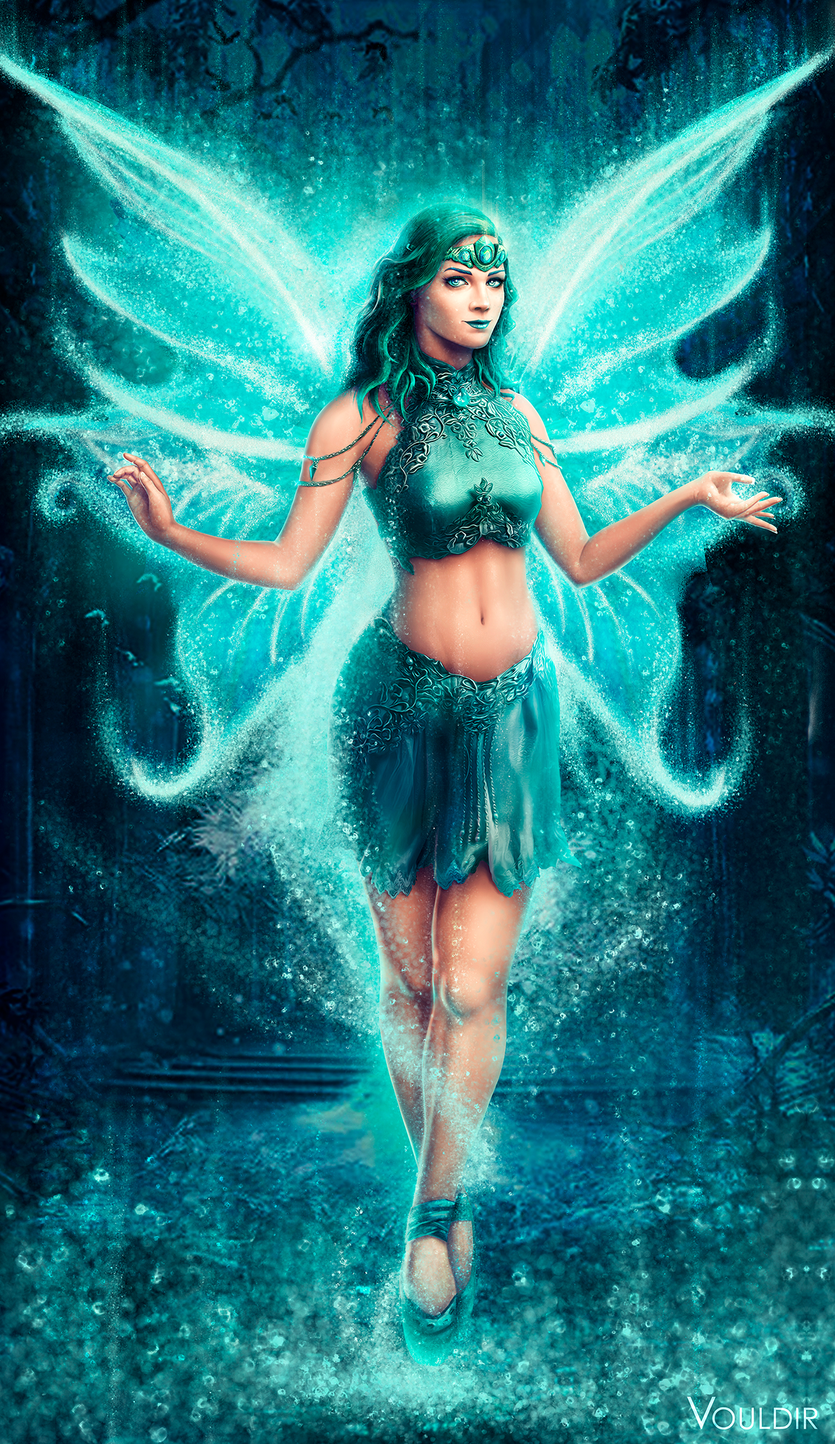 Water Fairy (full body) / Slot Game Character Design on ...