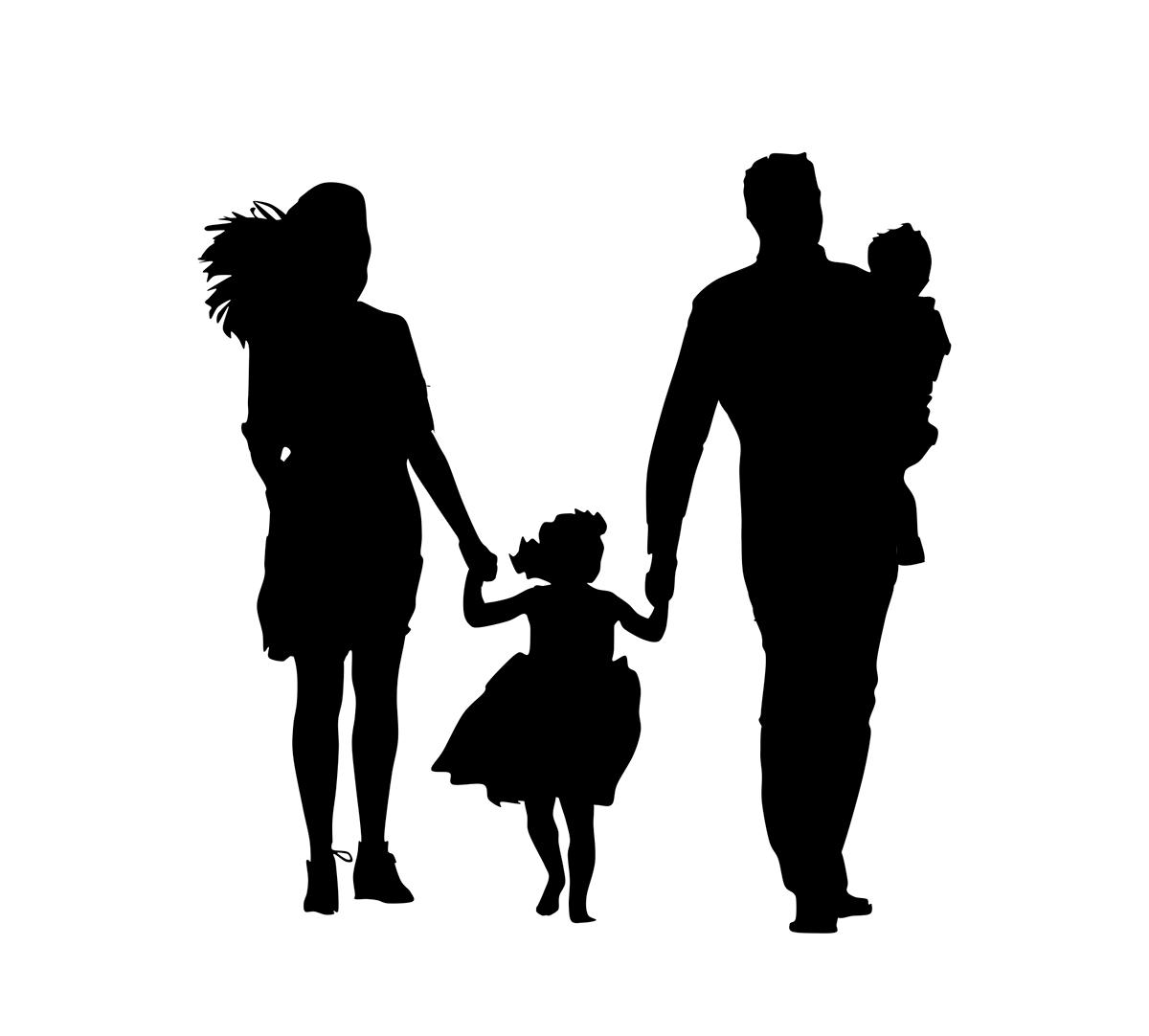 Картинка черно-белая папа с детьми