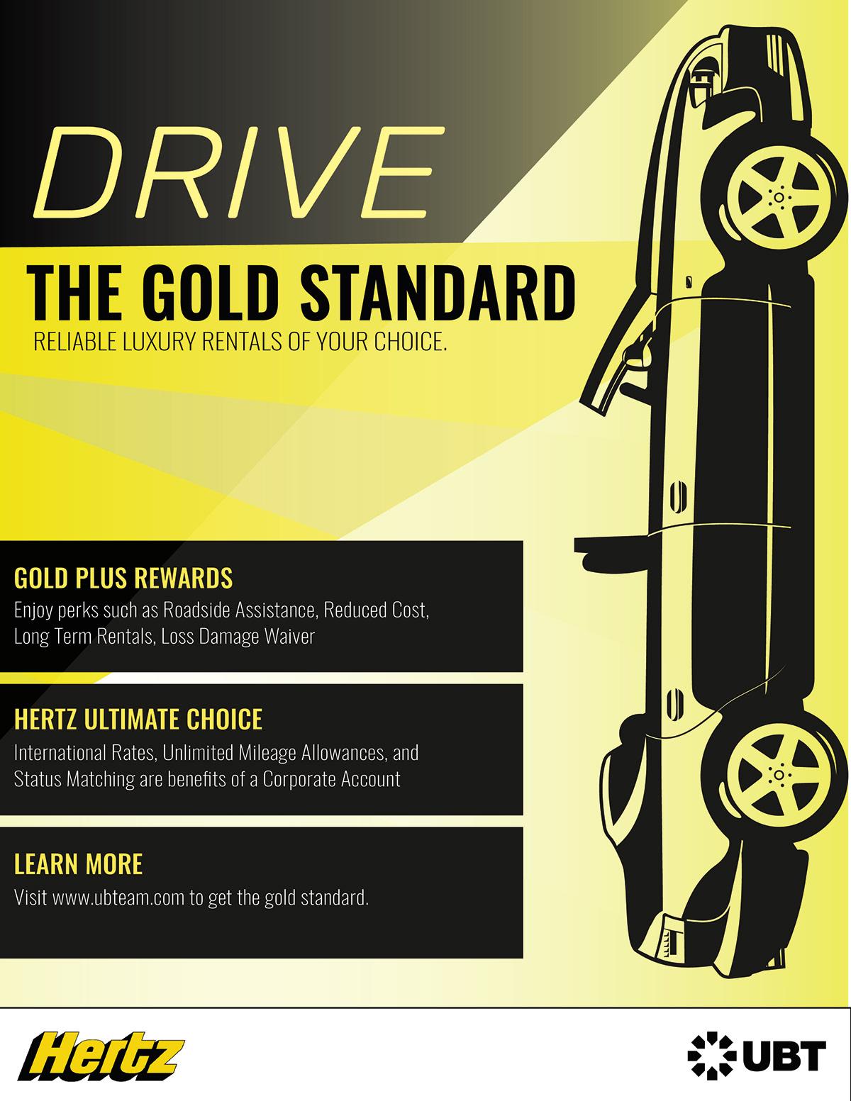 Hertz Car Rental Brief Magazine Ad Web Banner On Behance