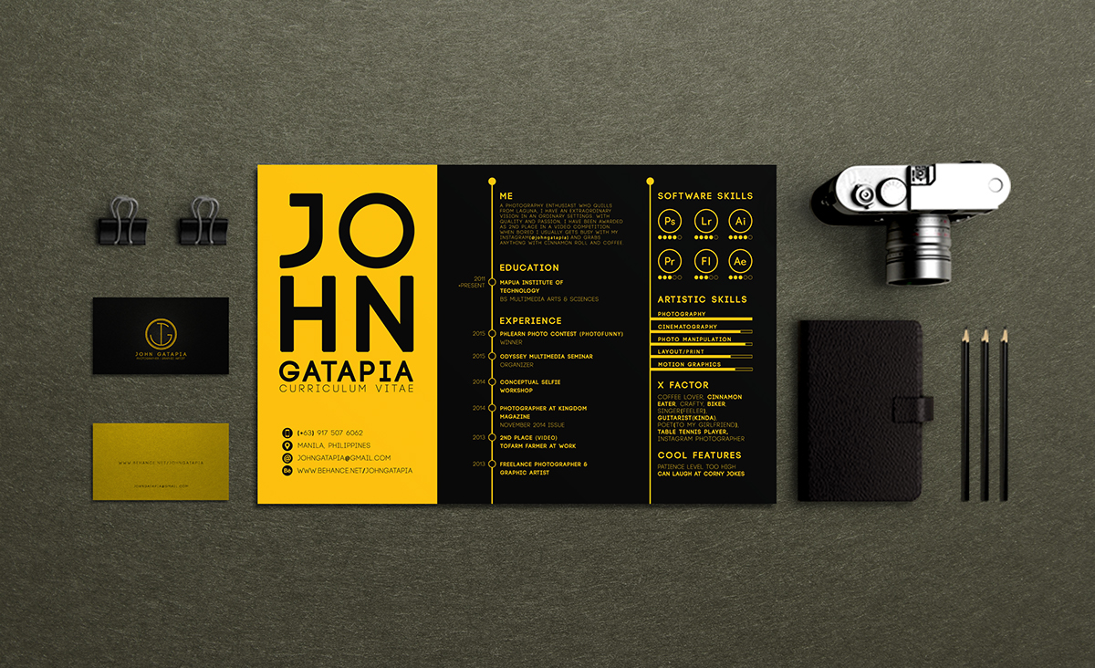 creative curriculum vitae resume on behance