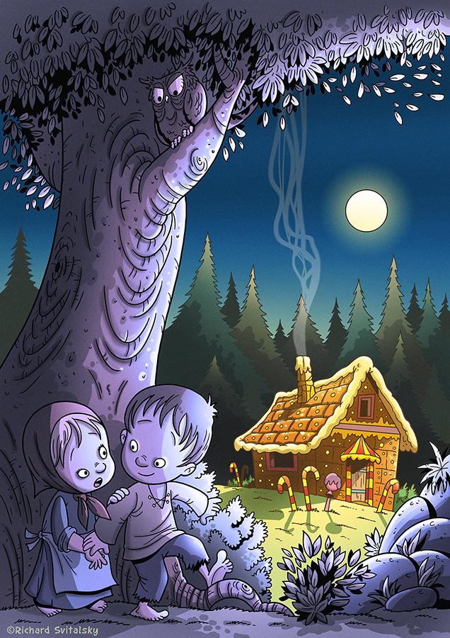 fairy tale hansel gretel Gingerbread ILLUSTRATION  book children ilustrace kniha pohadka