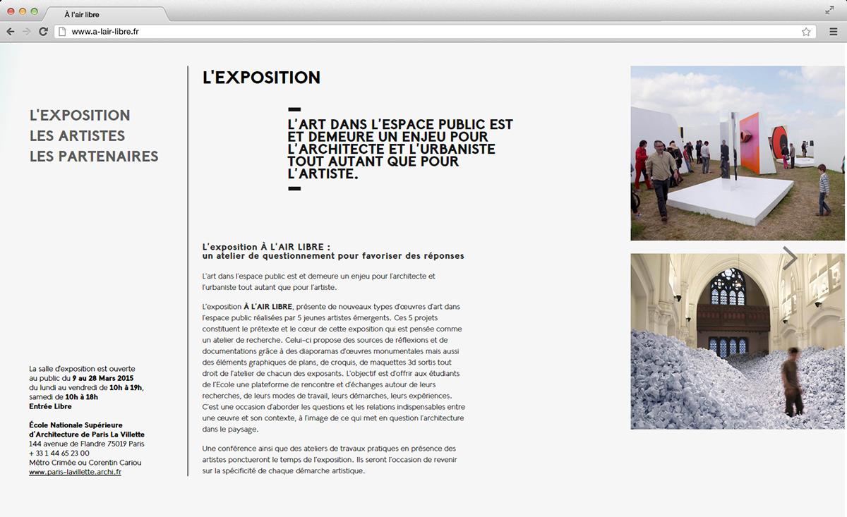 art Exhibition  ENSAPLV Webdesign
