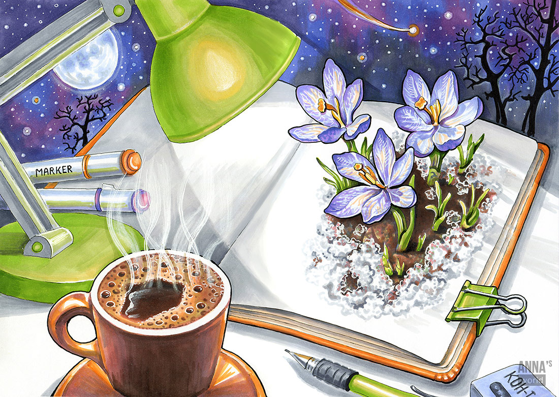 Fragrance Aroma ILLUSTRATION  hand drawn marker illustration Illustrator Drawing  Competition postcards Editorial Illustration