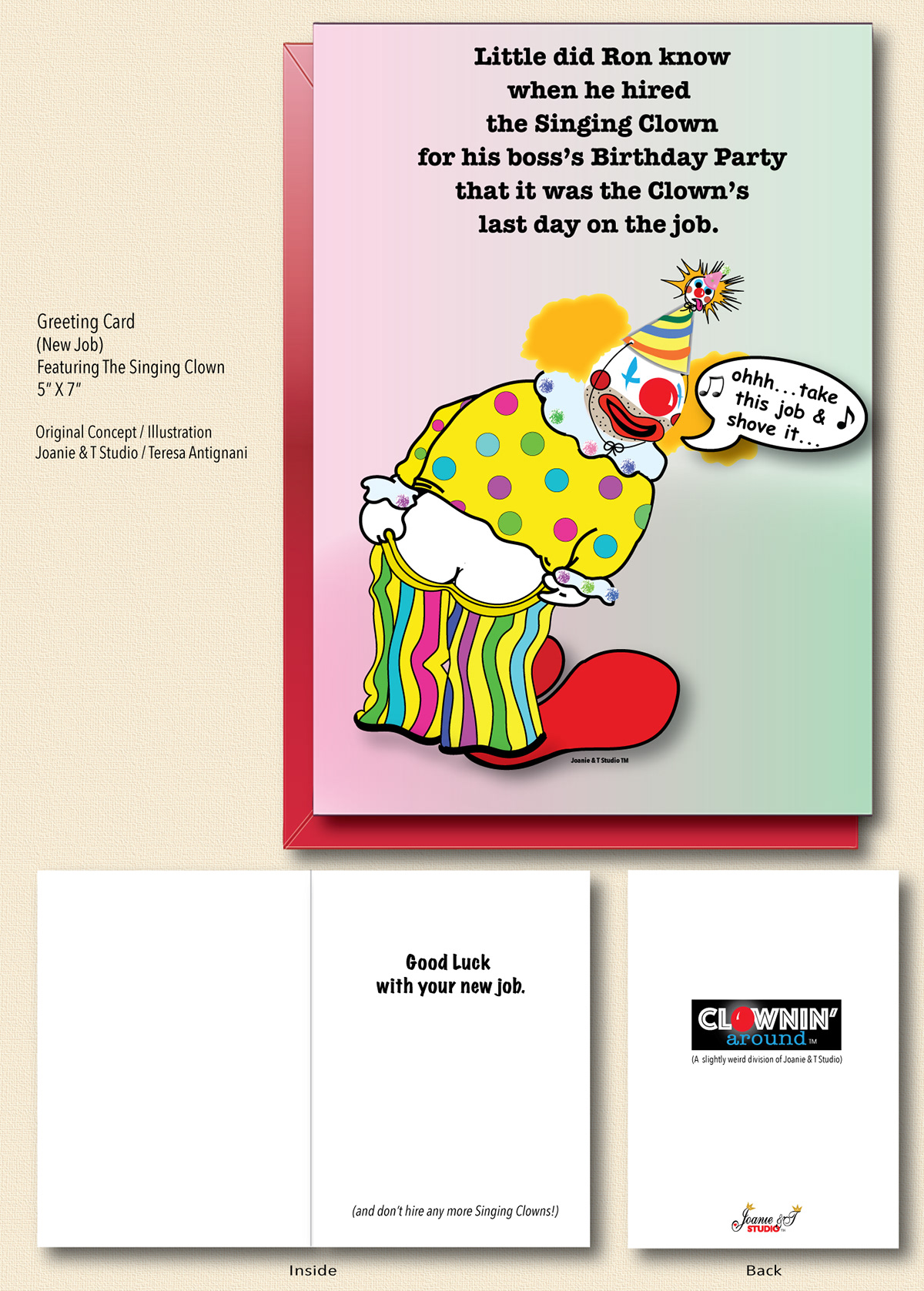 Singing Clown Greeting Card On Behance