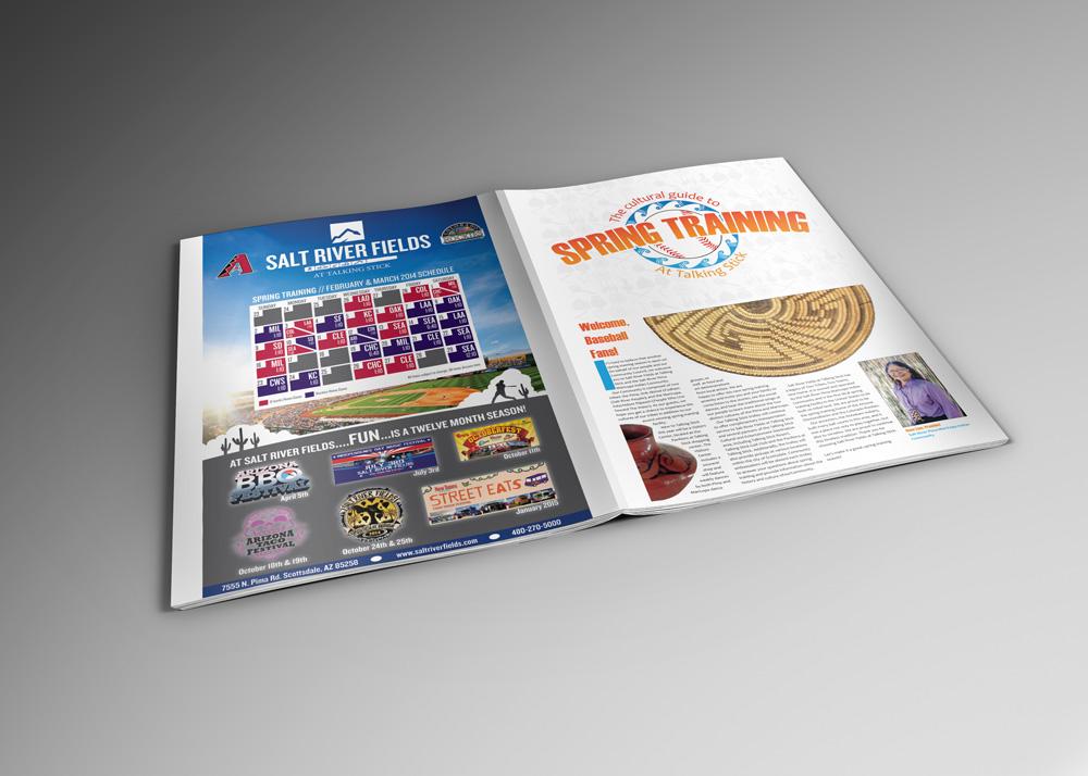 spring training baseball colorado rockies Arizona D-Backs art direction  Layout newspaper publication typography