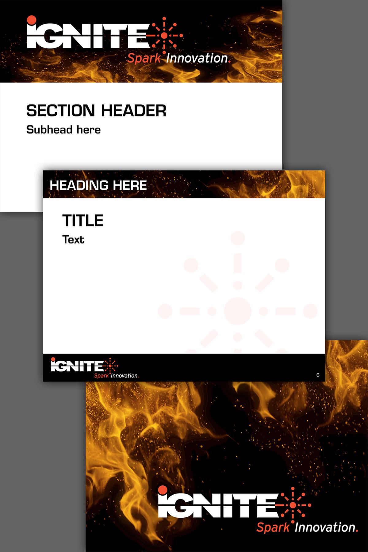 IGNITE: Brand Identity   PPT   Graphics   Posters on Pratt Portfolios