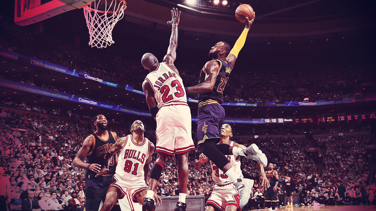 LeBron James Vs Michael Jordan On Behance