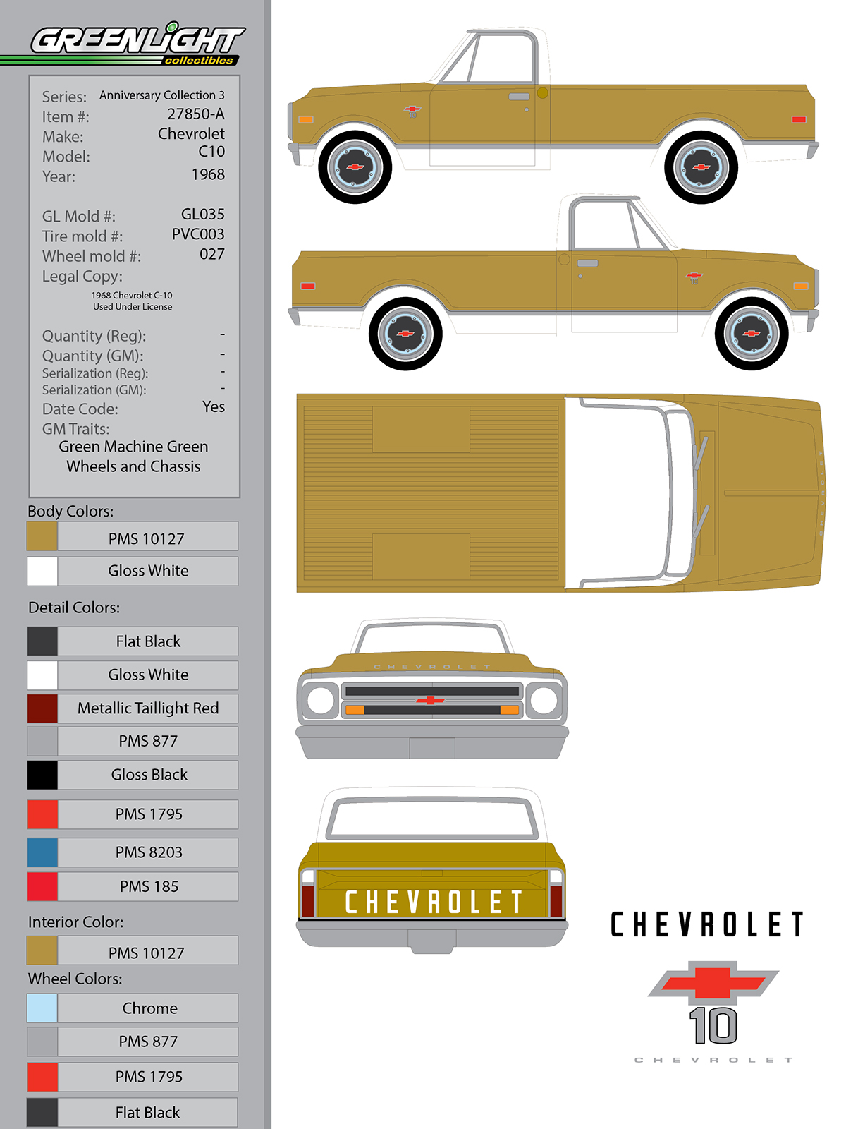 1968 Chevrolet C10 On Behance Chevy Truck 50th Anniversary