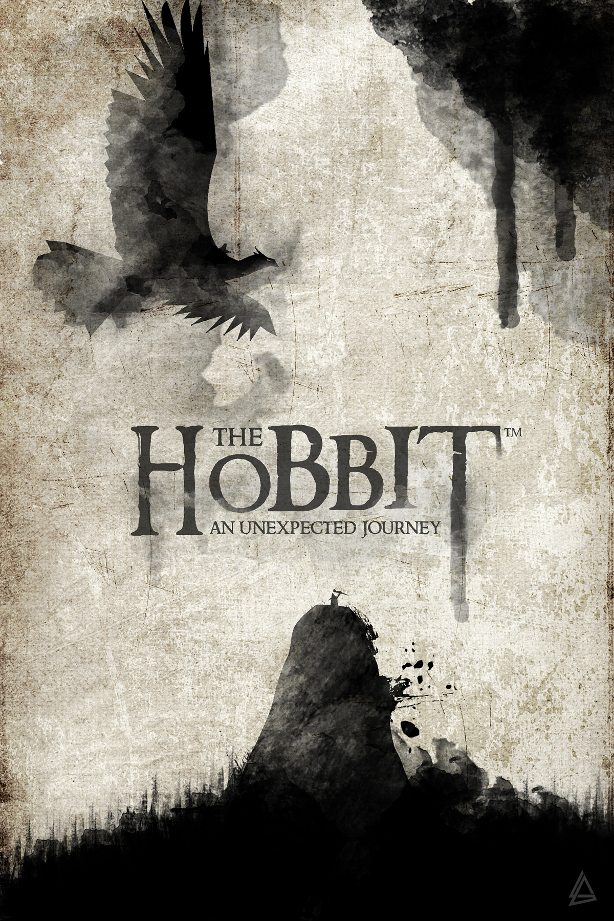 Book Cover Watercolor Uk : The hobbit watercolor book cover on behance