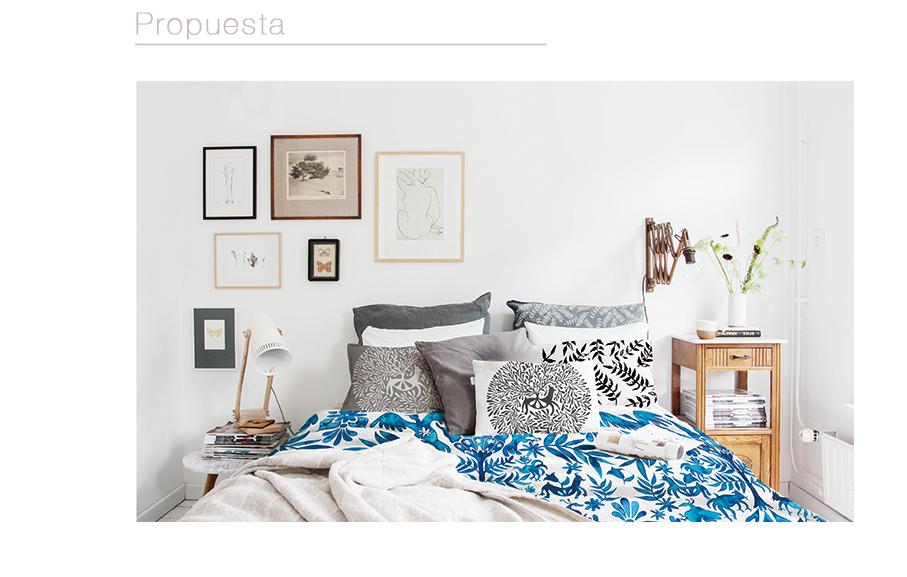 leirebueno dalarna textile design bedroom design photoshop watercolor blue animals plants Nature Folklore TRADITIONAL ART