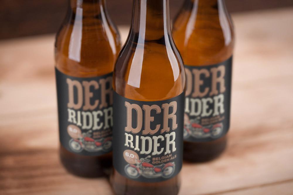 Mockup beer free alcohol bottle