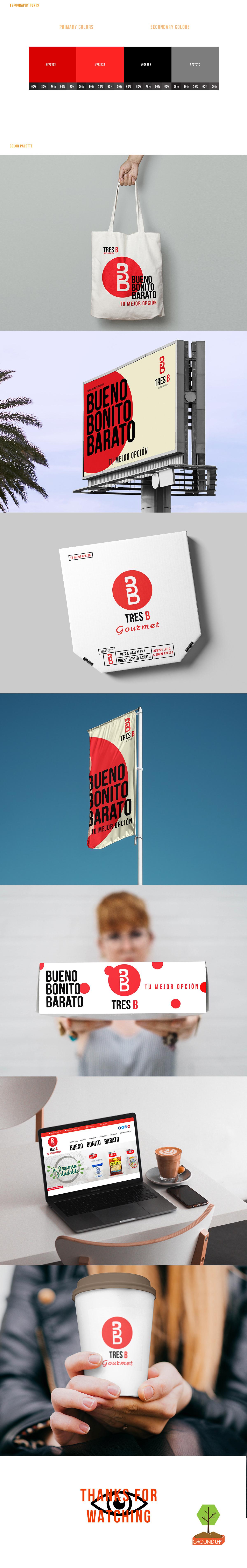 Supermarket logo redesign branding  shop Food  mexico