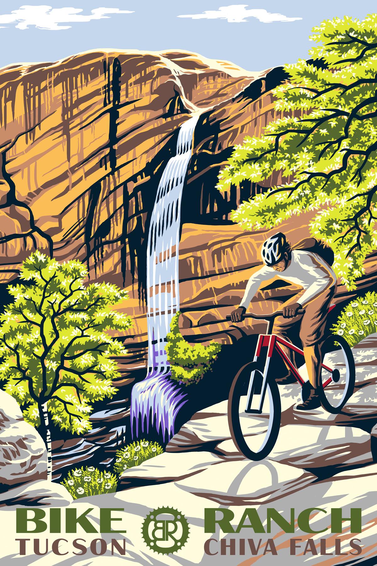 Chiva Falls cycling poster