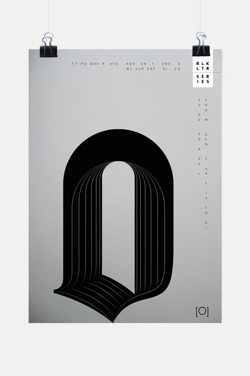 superfried blk ltr Blackletter typographic posters experimental type bespoke lettering type as image typographic illustration type design innovative type