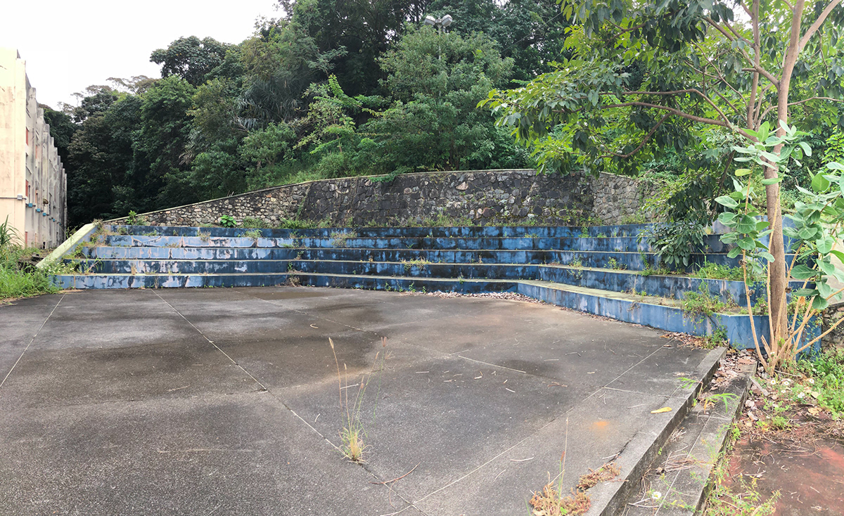 área antes da revitalização e pintura