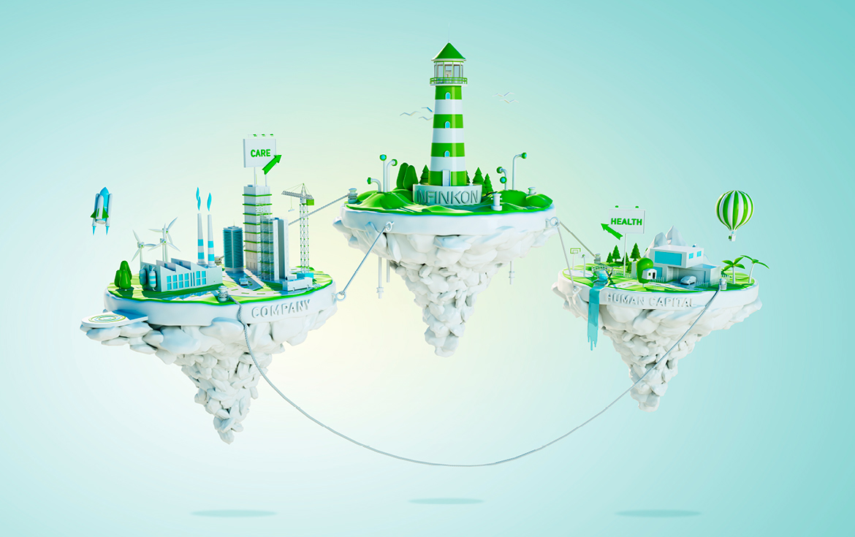 Ein starkes und emotionales Key-Visual symbolisiert die INFINKON als Leuchtturm, der den Weg zur perfekten Lösung für die Bedürfnisse der Arbeitnehmer und ...
