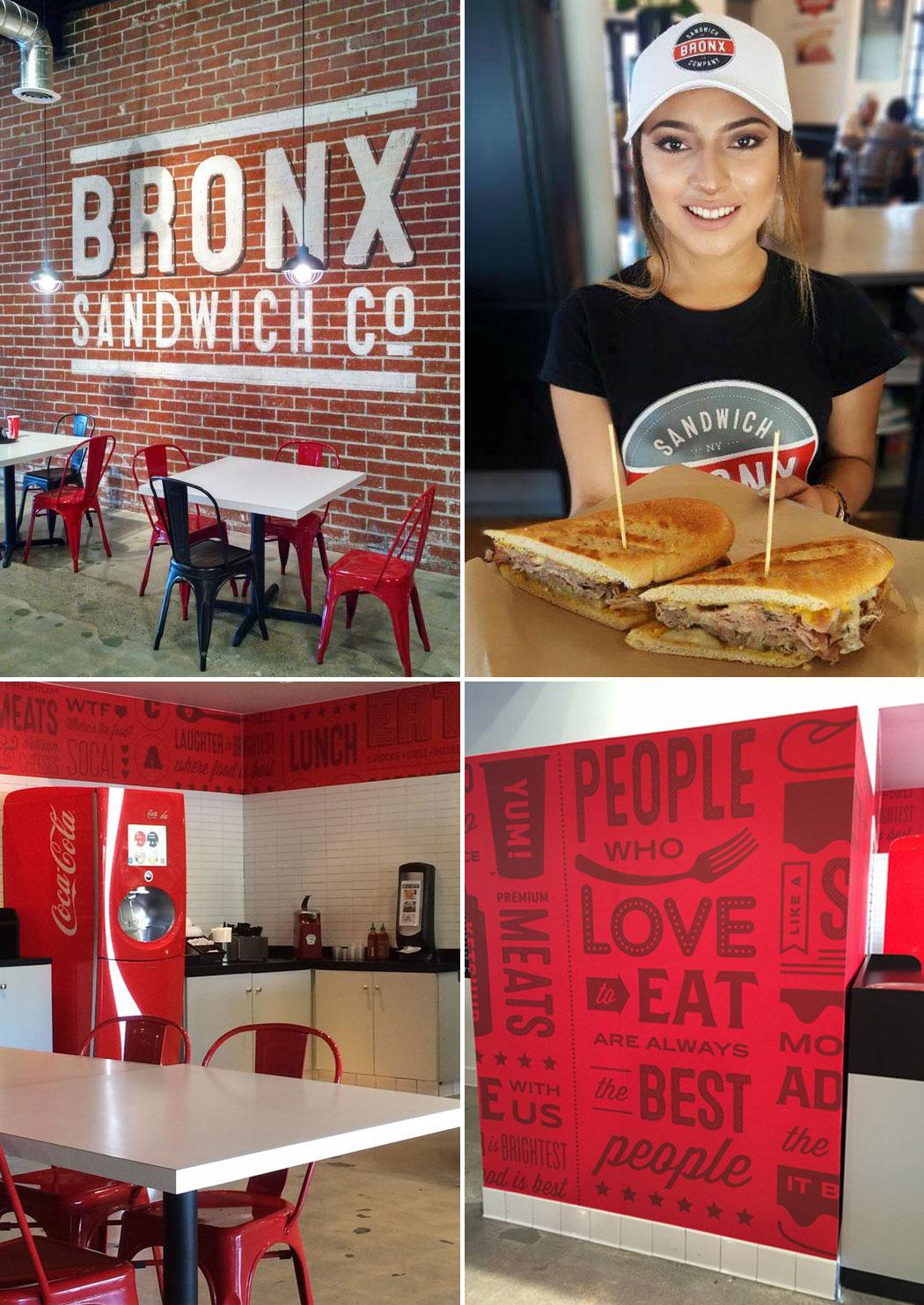BRONX Sandwich Company, Deli, Logo Design, Restaurant Branding, Anaheim, LA, CA