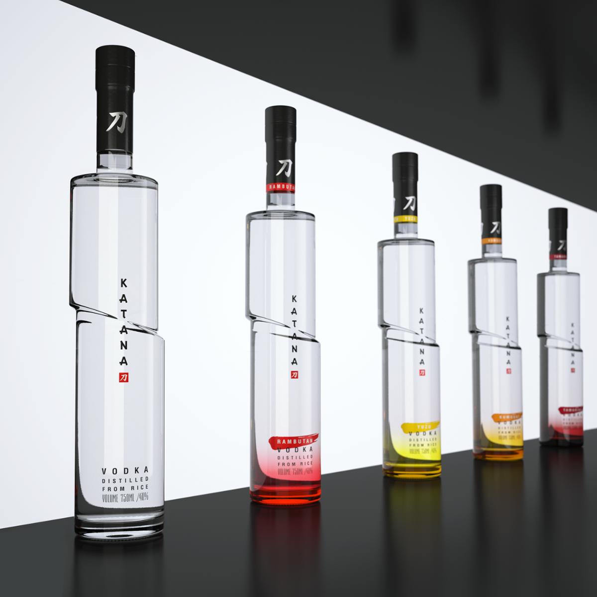Vodka,alcohol,samurai,glass,bottle,Packaging,vodka design,samurai vodka,studioin